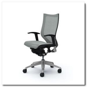 オカムラ オフィスチェア バロン スタンダードメッシュ ハイバック アジャストアーム シルバーフレーム|chairkingdom