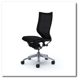 オカムラ オフィスチェア バロン スタンダードメッシュ ハイバック 肘なし ポリッシュフレーム|chairkingdom