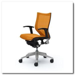 オカムラ オフィスチェア バロン スタンダードメッシュ ローバック アジャストアーム シルバーフレーム|chairkingdom