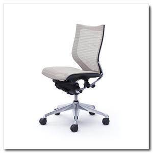 オカムラ オフィスチェア バロン スタンダードメッシュ ローバック 肘なし ポリッシュフレーム|chairkingdom
