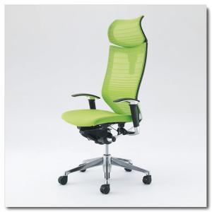 オカムラ オフィスチェア バロン グラデーションサポートメッシュ エクストラハイバック 可動ヘッドレスト アジャストアーム ポリッシュフレーム|chairkingdom