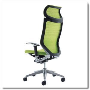 オカムラ オフィスチェア バロン グラデーションサポートメッシュ エクストラハイバック 固定ヘッドレスト アジャストアーム ポリッシュフレーム|chairkingdom