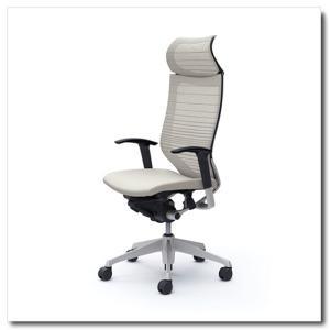 オカムラ オフィスチェア バロン グラデーションサポートメッシュ エクストラハイバック 固定ヘッドレスト アジャストアーム シルバーフレーム|chairkingdom