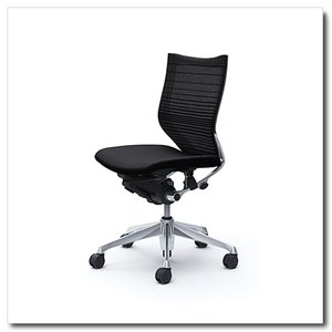 オカムラ オフィスチェア バロン グラデーションサポートメッシュ ローバック 肘なし ポリッシュフレーム|chairkingdom