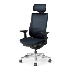 コクヨ ベゼル(Bezel) アルミポリッシュ ヘッドレスト・ランバーサポート付き 可動肘・ブラック...