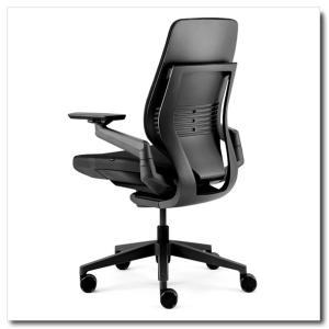 スチールケース ジェスチャー シェルバック ブラック ブラックタイプ 張地カラー5S26リコリス ランバーサポート無し 442A30BB-5S26|chairkingdom