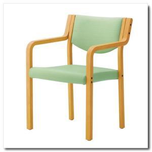 介護施設向けダイニングチェア 『リスカ・スリムタイプ』 肘付き ≪耐アルコールレザー張り≫|chairkingdom