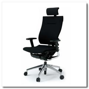 イトーキ オフィスチェア スピーナ クロスバッククロスシート エクストラハイバックアジャスタブル肘付 ベースカラーアルミミラー KE-727GP-Z9|chairkingdom