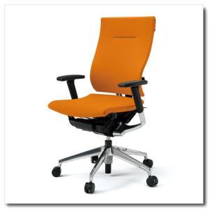 イトーキ オフィスチェア スピーナ クロスバッククロスシート ハイバックアジャスタブル肘付 ベースカラーアルミミラー KE-717GP-Z9|chairkingdom