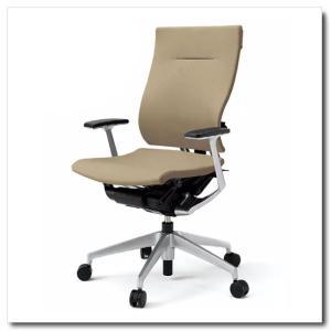 イトーキ オフィスチェア スピーナ クロスバッククロスシート ハイバックT型固定肘付 ベースカラーシルバー KE-715GP-Z5|chairkingdom