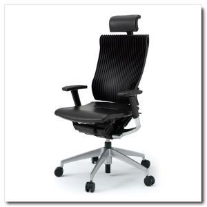 イトーキ オフィスチェア スピーナ エラストマーバックレザーシート エクストラハイバックアジャスタブル肘付 ベースカラーシルバー KE-767LA-Z5T1|chairkingdom
