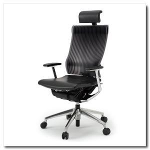 イトーキ オフィスチェア スピーナ エラストマーバックレザーシート エクストラハイバックT型固定肘付 ベースカラーアルミミラー KE-765LA-Z9T1|chairkingdom