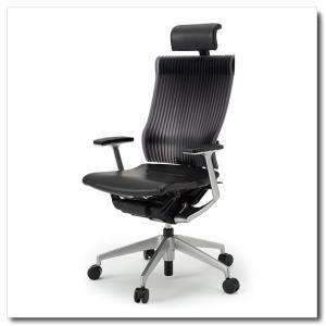 イトーキ オフィスチェア スピーナ エラストマーバックレザーシート エクストラハイバックT型固定肘付 ベースカラーシルバー KE-765LA-Z5T1|chairkingdom