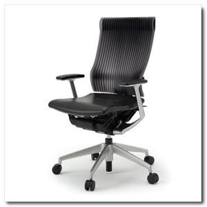 イトーキ オフィスチェア スピーナ エラストマーバックレザーシート ハイバックT型固定肘付 ベースカラーシルバー KE-755LA-Z5T1|chairkingdom