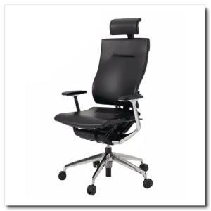 イトーキ オフィスチェア スピーナ レザーバックレザーシート エクストラハイバックT型固定肘付 ベースカラーアルミミラー KE-725LA-Z9T1|chairkingdom