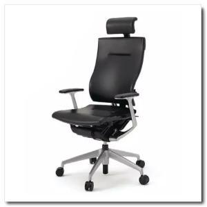 イトーキ オフィスチェア スピーナ レザーバックレザーシート エクストラハイバックT型固定肘付 ベースカラーシルバー KE-725LA-Z5T1|chairkingdom