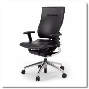 イトーキ オフィスチェア スピーナ レザーバックレザーシート ハイバックアジャスタブル肘付 ベースカラーアルミミラー KE-717LA-Z9T1|chairkingdom