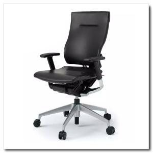 イトーキ オフィスチェア スピーナ レザーバックレザーシート ハイバックアジャスタブル肘付 ベースカラーシルバー KE-717LA-Z5T1|chairkingdom