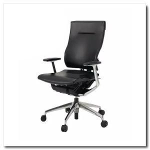 イトーキ オフィスチェア スピーナ レザーバックレザーシート ハイバックT型固定肘付 ベースカラーアルミミラー KE-715LA-Z9T1|chairkingdom