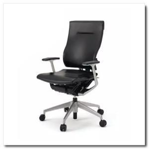 イトーキ オフィスチェア スピーナ レザーバックレザーシート ハイバックT型固定肘付 ベースカラーシルバー KE-715LA-Z5T1|chairkingdom