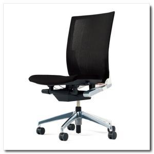 イトーキ オフィスチェア ヴェント ストライプレイヤーファブリック ハイバック 肘なし ベースカラー アルミミラー|chairkingdom