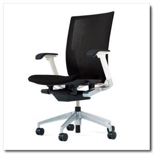 イトーキ オフィスチェア ヴェント ストライプレイヤーファブリック ハイバック アジャスタブル肘付 ベースカラー シルバーメタリック|chairkingdom