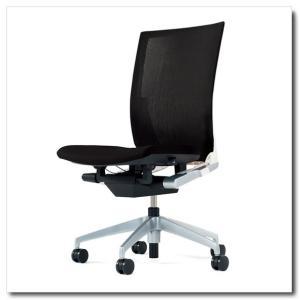 イトーキ オフィスチェア ヴェント ストライプレイヤーファブリック ハイバック 肘なし ベースカラー シルバーメタリック|chairkingdom