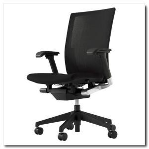イトーキ オフィスチェア ヴェント ストライプレイヤーファブリック ハイバック アジャスタブル肘付 ベースカラー ブラック|chairkingdom