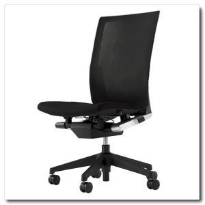 イトーキ オフィスチェア ヴェント ストライプレイヤーファブリック ハイバック 肘なし ベースカラー ブラック|chairkingdom