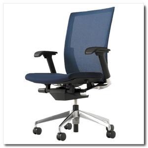 イトーキ オフィスチェア ヴェント プレーンメッシュ ハイバック アジャスタブル肘付 ベースカラー アルミミラー|chairkingdom