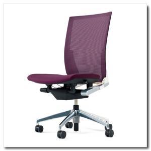 イトーキ オフィスチェア ヴェント プレーンメッシュ ハイバック 肘なし ベースカラー アルミミラー|chairkingdom