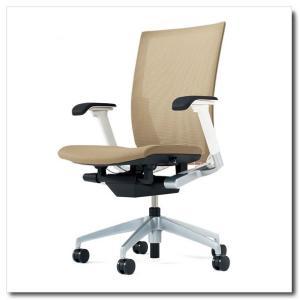 イトーキ オフィスチェア ヴェント プレーンメッシュ ハイバック アジャスタブル肘付 ベースカラー シルバーメタリック|chairkingdom