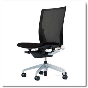 イトーキ オフィスチェア ヴェント プレーンメッシュ ハイバック 肘なし ベースカラー シルバーメタリック|chairkingdom