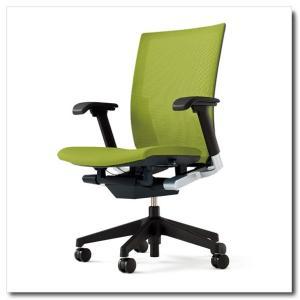 イトーキ オフィスチェア ヴェント プレーンメッシュ ハイバック アジャスタブル肘付 ベースカラー ブラック|chairkingdom