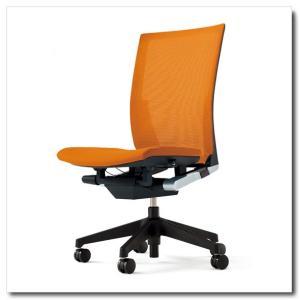 イトーキ オフィスチェア ヴェント プレーンメッシュ ハイバック 肘なし ベースカラー ブラック|chairkingdom