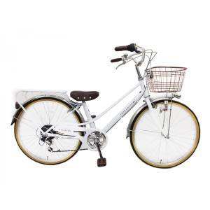 女の子向け 自転車 子供自転車 26インチ セントルイス シマノ6段変速 ブロックライト 本州送料無料|chalinx