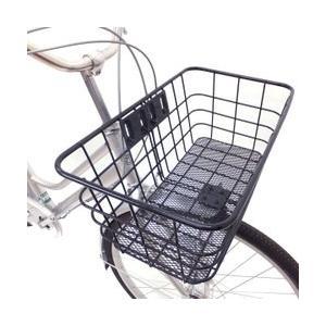 自転車 フロントスーパージャンボバスケット 前専用 ブラック ■送料無料(一部地域除く)