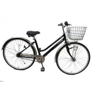 自転車 27インチ 内装5段変速 アルベルト並の性能 LEDオートライト 通勤 通学向け シティカルロス|chalinx