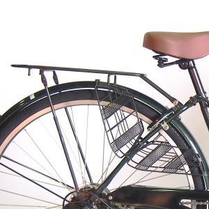 クラス25 自転車26インチシティサイクル用荷台 キャリア ダボ止め用ブラック|challenge21