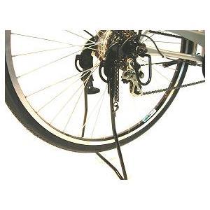 26インチ外装6段ギア付自転車用両立スタンド センタースタンド ブラック|challenge21