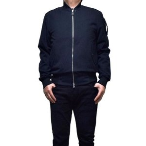 ART COMES FIRST x FRED PERRY アート・カムズ・ファースト x フレッドペリー コラボ ACF BOMBER JACKET D.NAVY(ダーク・ネイビー)*SALE 30%OFF|chambray-store