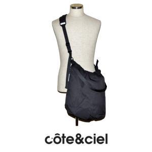 "cote&ciel コートエシエル ORCO 28830 ショルダー・トートパック SMOOTH Stone Black (ブラック)LAP TOP 13""対応|chambray-store"