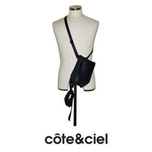 cote&ciel コートエシエル KIVU S 28845 リスト付ポーチ SLEEK NYLON Black  (ブラック)|chambray-store