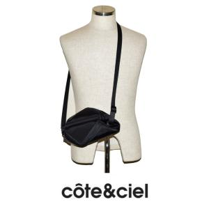 cote&ciel コートエシエル TARA L 28852 ショルダーストラップ付バッグ SLEEK NYLON Black  (ブラック)|chambray-store