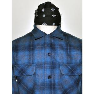 PENDLETON ペンドルトン BOARD CL FIT オンブレ チェック シャツ 1965Archive ターコイズ x ネイビー オンブレ *SOLD OUT|chambray-store