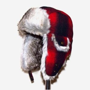 PENDLETON ペンドルトン Trapper Hat オンブレ チェック キャップ Buffalo Check Black X Red Ombre|chambray-store