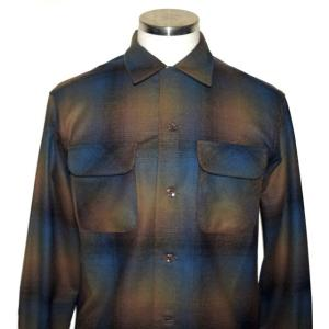 PENDLETON ペンドルトン BOARD CL Fit オンブレ チェック シャツ Brawn X Cobalt Ombre Check|chambray-store