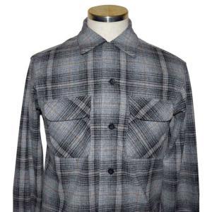 PENDLETON ペンドルトン 2019 BOARD CL Fit オンブレ チェック シャツ Grey x Black Ombre Check|chambray-store