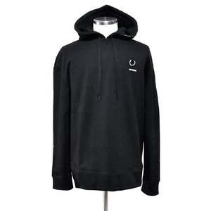 RAF SIMONS x FRED PERRY ラフ・シモンズ x フレッドペリー コラボ SM7067 PRINTED HOODED SWEAT BLACK ブラック|chambray-store