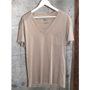 DtE in California ディー ティー イー SHORT SLEEVE V-NECK ポケット Tシャツ SAND サンド・ベージュ *SALE30%OFF chambray-store